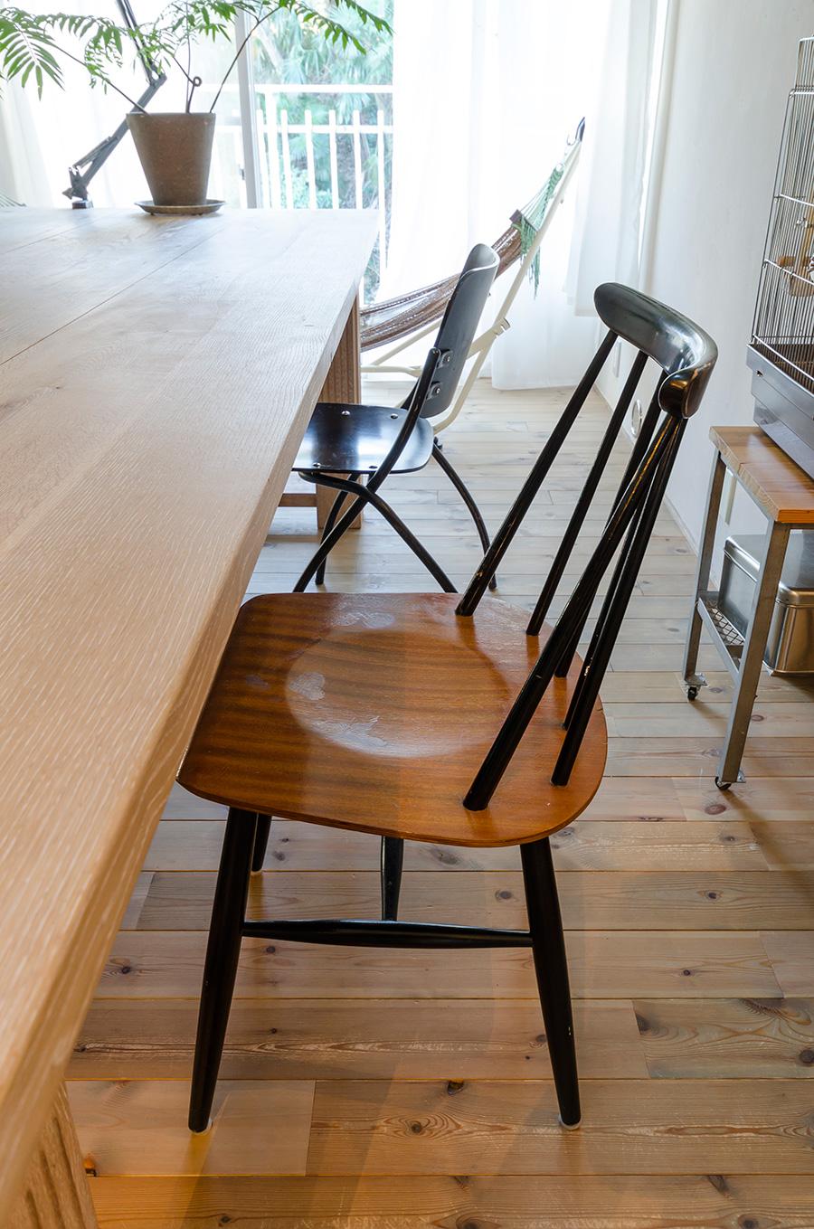 椅子はアアルト、タピオヴァーラなど北欧ものにアメリカのヴィンテージも。