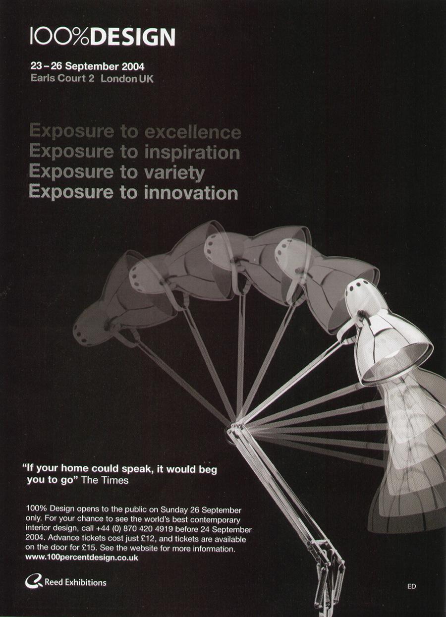 国際見本市 100% Design Londonにも出展。