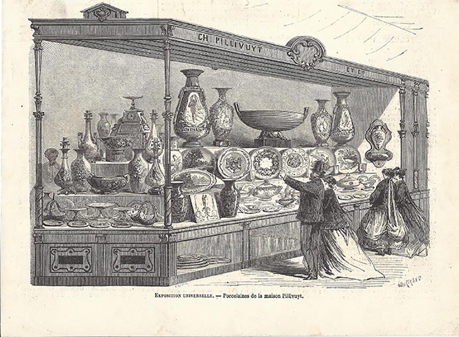 1878年と1889年のパリ万博でのイラスト。