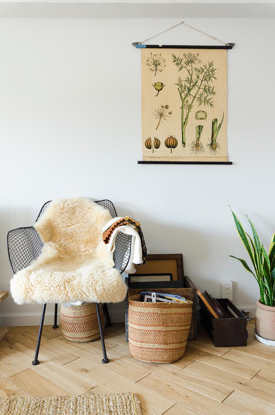 ユニークな壁掛けは世界の手づくり雑貨などを扱うサイト「Etsy」で購入。