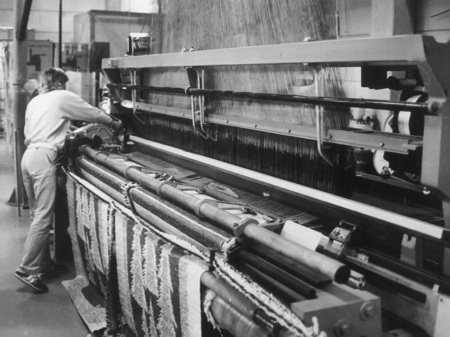 1970年代のラプアン カンクリ工場のジャガード機。