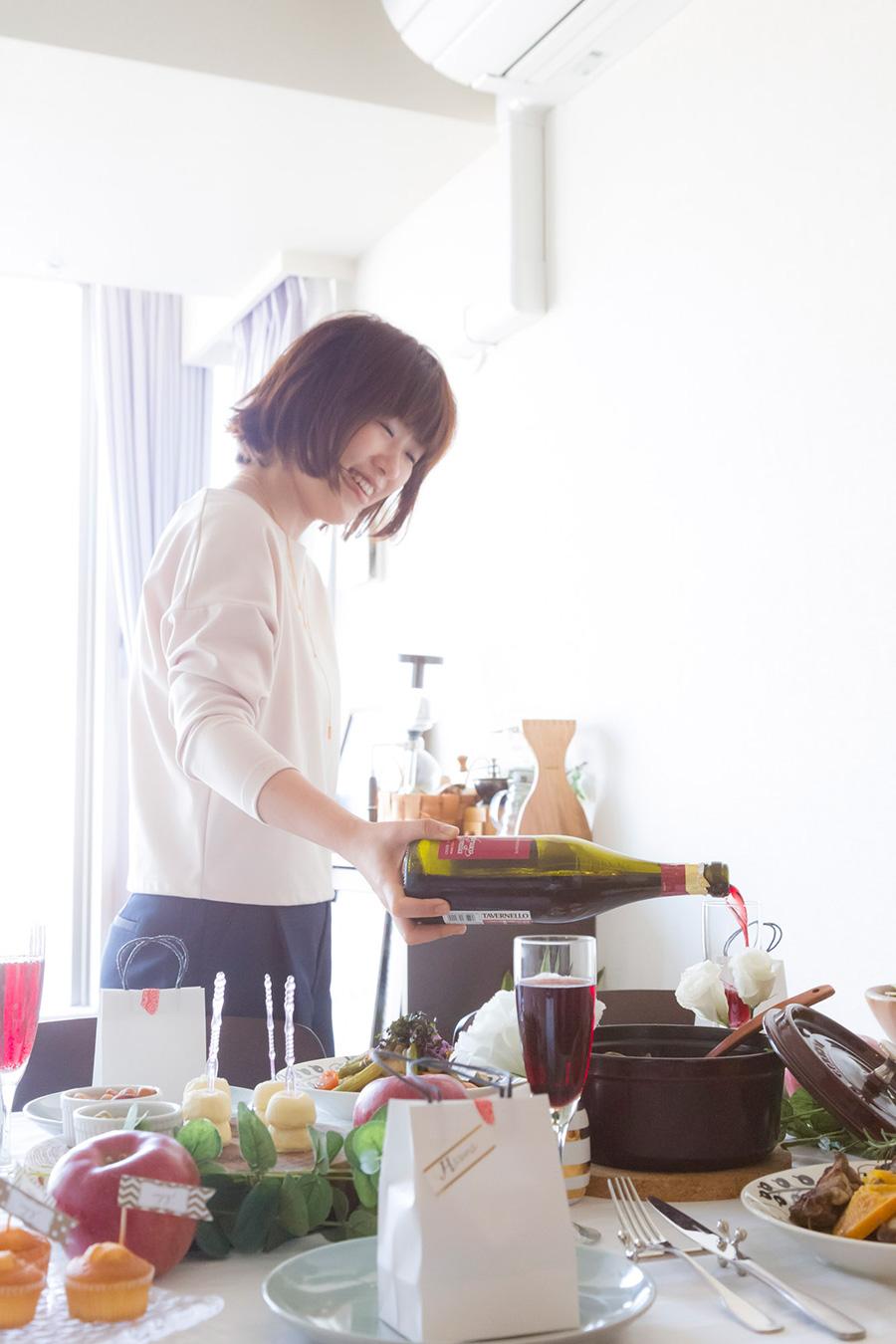赤、白、スパークリング…ワインは料理に合わせて準備しておく。