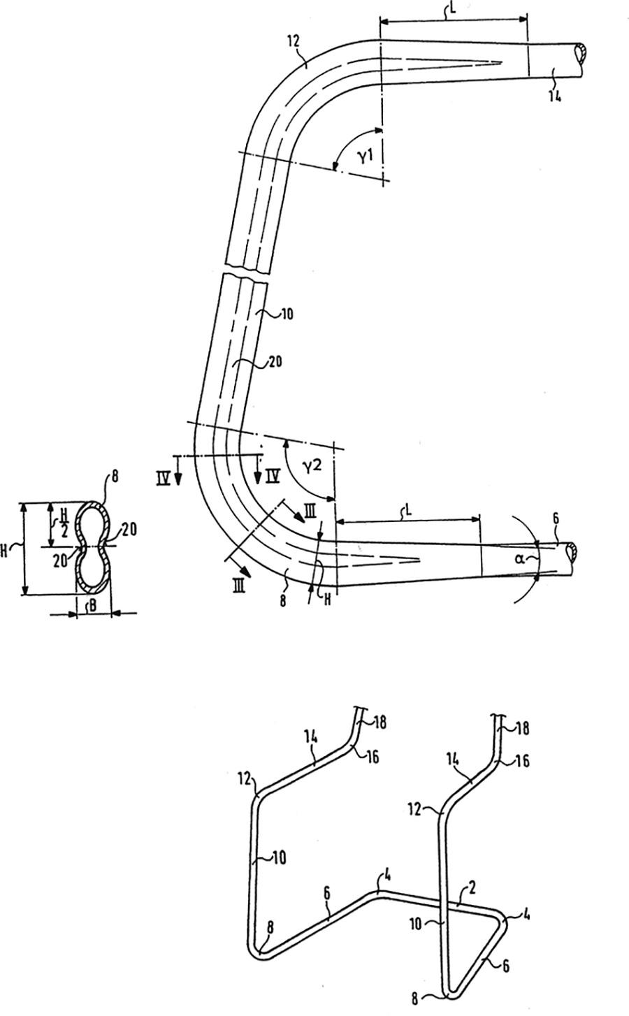 チューブ・アプラティを採用したカンチレバーの設計図。