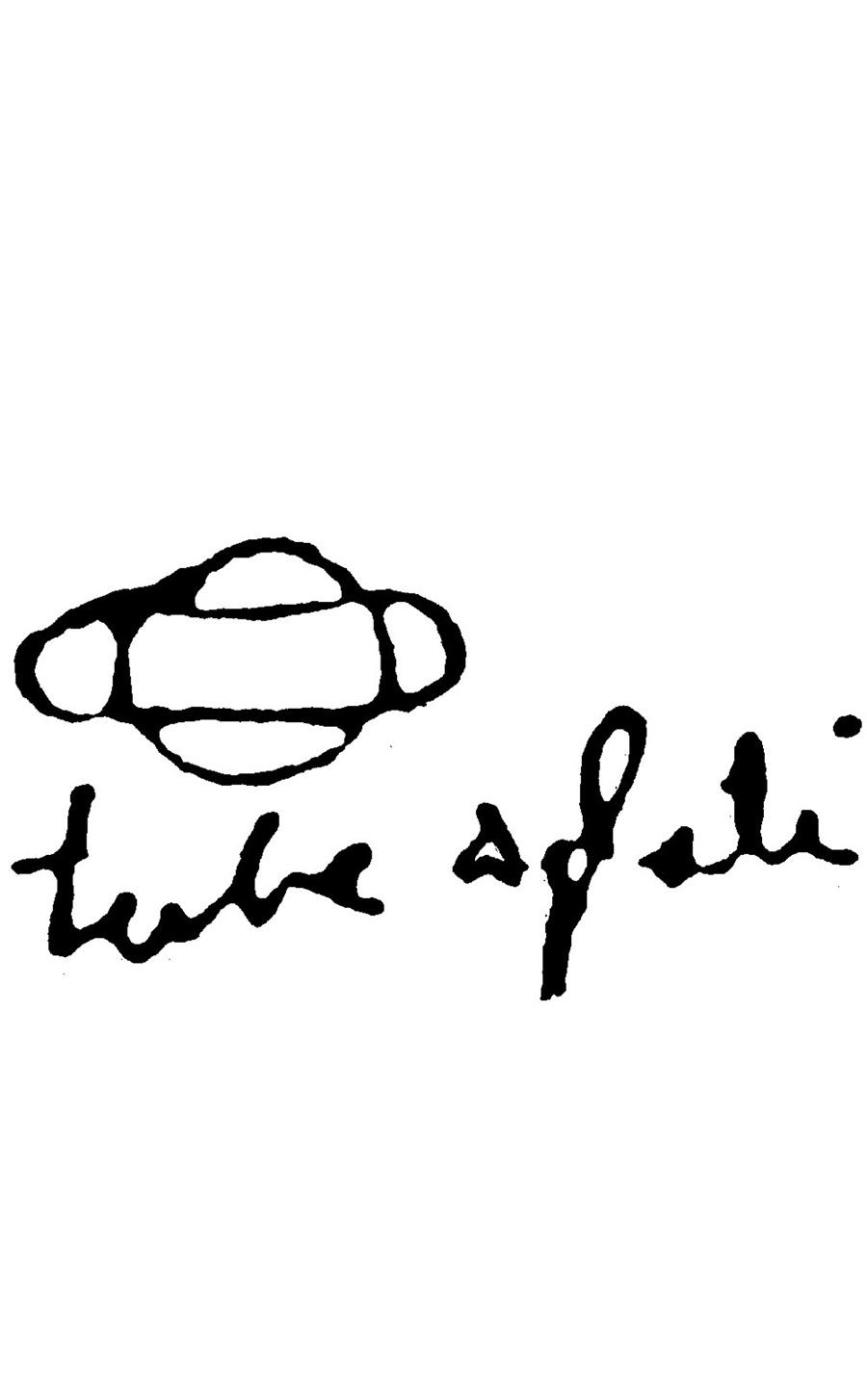 プルーヴェによる「TUBE APLATI」の直筆サイン。
