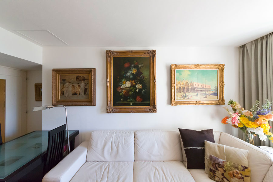 絵は澤田さんの別荘があったフロリダのアンティークショップで購入したものが多いのだそう。