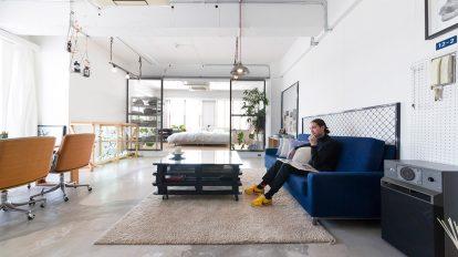 六本木の真ん中のLOFTスタイルの家  DIYしながら作った ワンルームのスタジオ空間