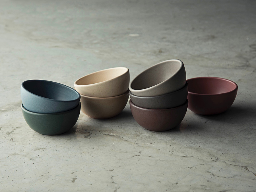 snack bowl(ASHBLUE・DARKGREEN・IVORY・CLAY・STEELGRAY・DOVEGRAY・BROWN・ORCHID) φ107 H51mm 各¥1,700