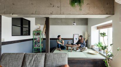 和洋折衷リノベーション  和室のないモダンジャパニーズな空間づくり