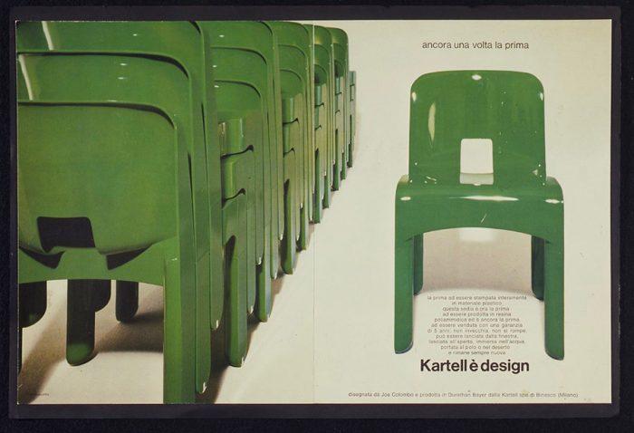 """1960年代にジョエ・コロンボが手がけたカルテル初の子供用家具「椅子4867 """"Universale"""
