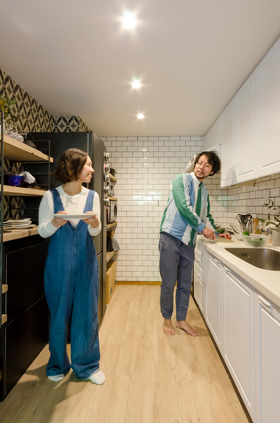 """夫婦揃って料理好き。安奈さんは、食から豊かさを考える""""エピエリ""""の経営する""""麹町カフェ""""に勤務。"""
