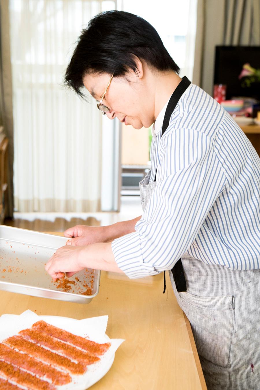 南青山で料理教室「アトリエ・グー」を開く林幸子先生。