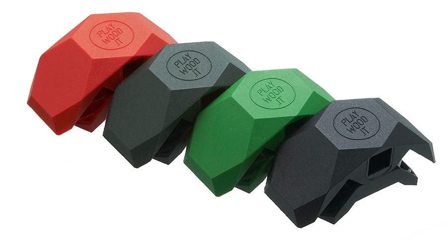 PLAYWOOD 90(レッド・カーキグリーン・グリーン・ブラック)  各¥800