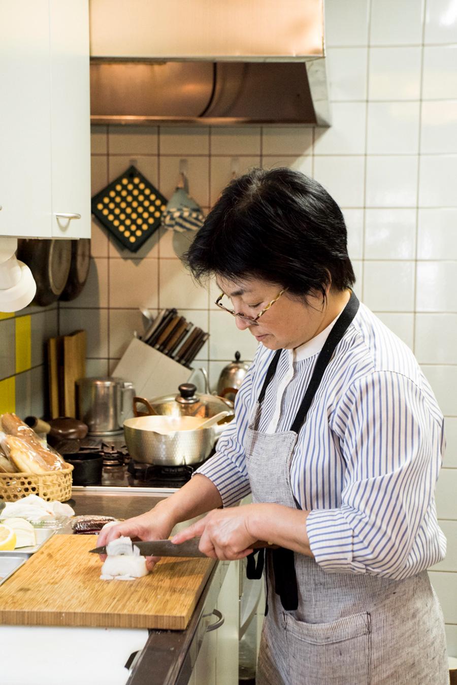 林幸子先生。南青山で料理教室「アトリエ・グー」を開催。