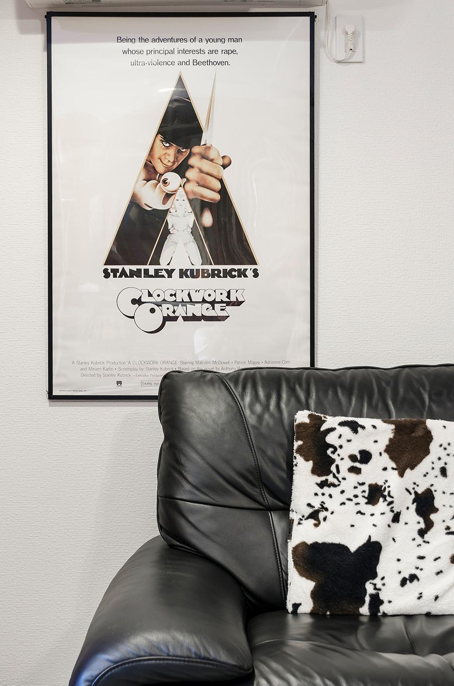 1970年代の米国映画「A Clockwork Orange」のポスター。