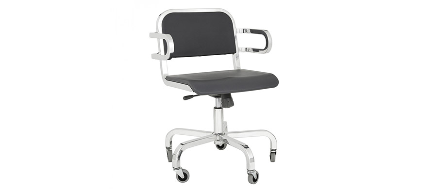 NINE-0™ SWIVEL ARMCHAIR SOFT BACK W560 D585 H825 SH520mm(光沢なし) ¥220,000 (光沢あり) ¥350,000