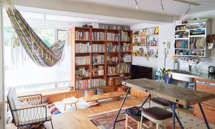 ヴィンテージマンションをリノベ自由奔放なスタイルを楽しむ色彩豊かなリラックス空間