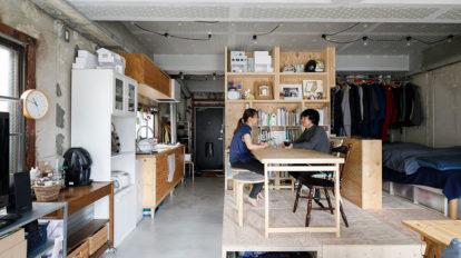建築家夫妻の自由な挑戦住まい手によって姿を変える部屋の形