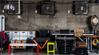 家具のアップサイクル -1 インダストリアルな家具を 廃棄物で作るアイディア
