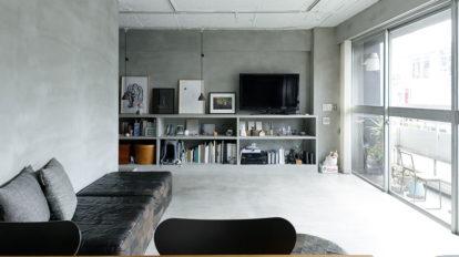築50年のマンションをリノベ  スター猫と暮らす モダンでシンプルな空間