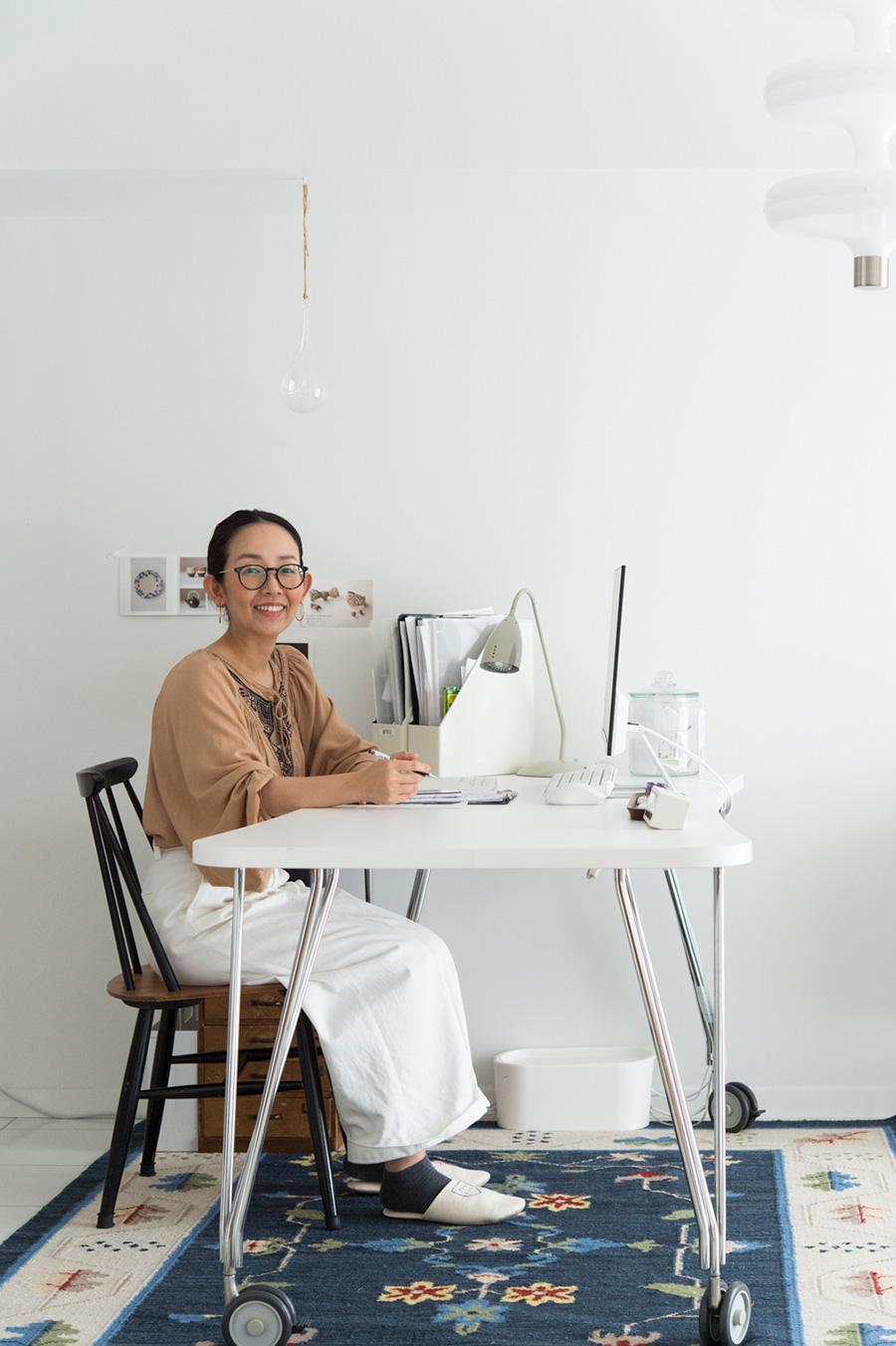 ライフオーガナイザー®田中由美子さん。ブログで快適な暮らしを発信。著書に「ごきげん家しごと」(マイナビ出版)も。