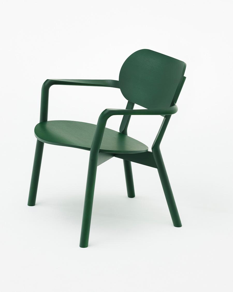 座り心地の良い座面の角度。