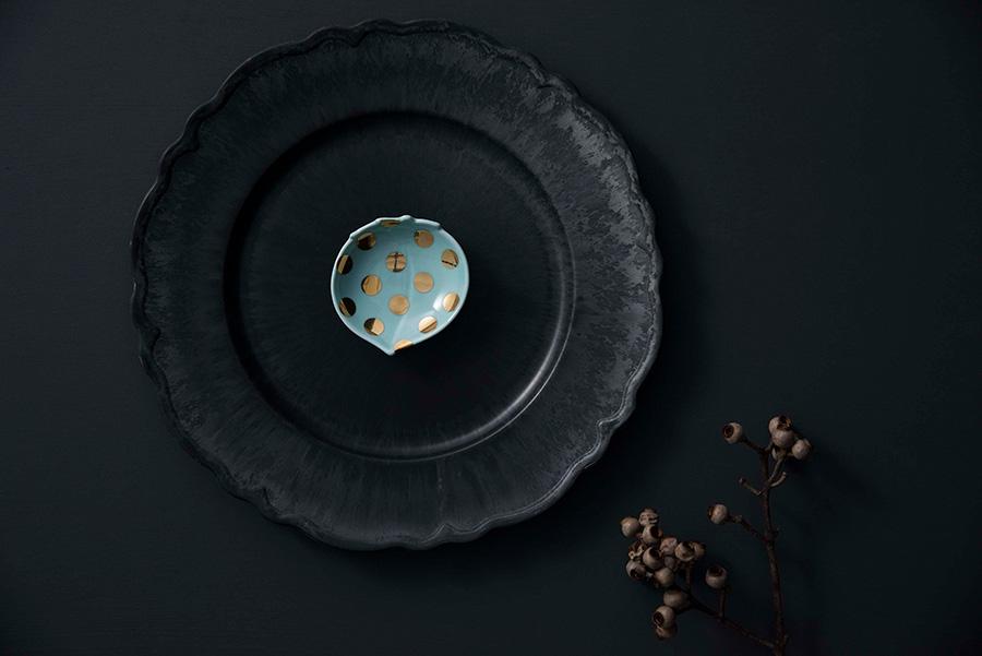 MAME 水玉桃形皿 W85 D85 H22mm ¥1,300