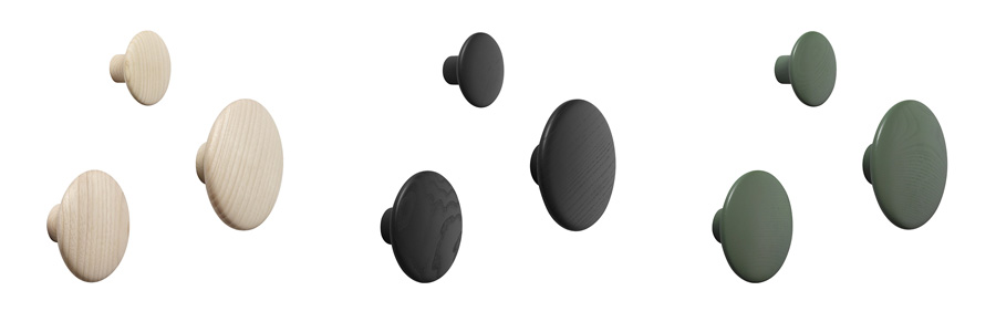 ドッツ スモール φ90 H350mm ¥4,600 ドッツ ミディアム φ130 H440mm ¥5,500 ドッツ ラージ φ170 H570mm ¥7,400 全サイズ、ブラック・ナチュラル・タンジェリン・ダスティグリーン・グレーの5色展開