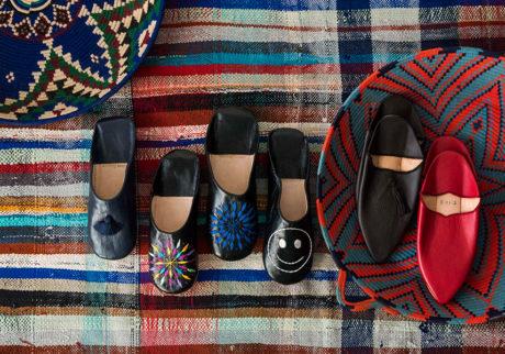 ファティマ モロッコのルームシューズ色と柄で魅せる伝統的なモロッコのバブーシュ
