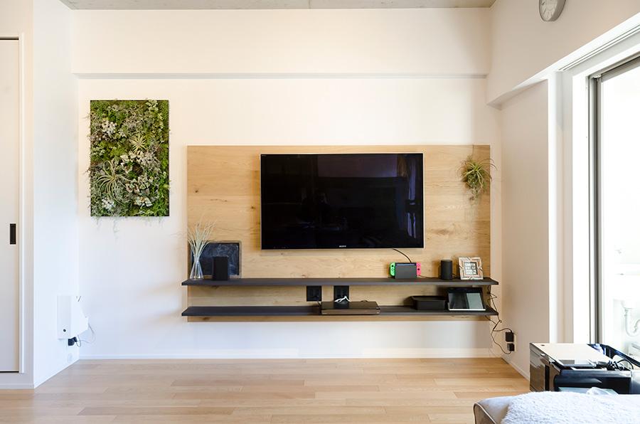 床暖房対応のオーク複合フローリング。