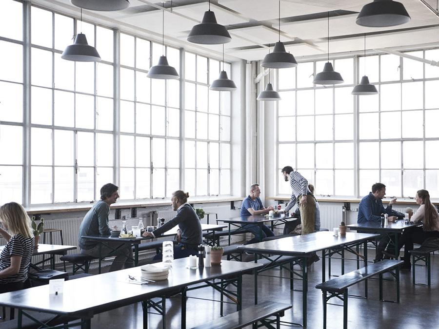 コペンハーゲンの写真スタジオ「the lab」の中にある「the lab kitchen」。