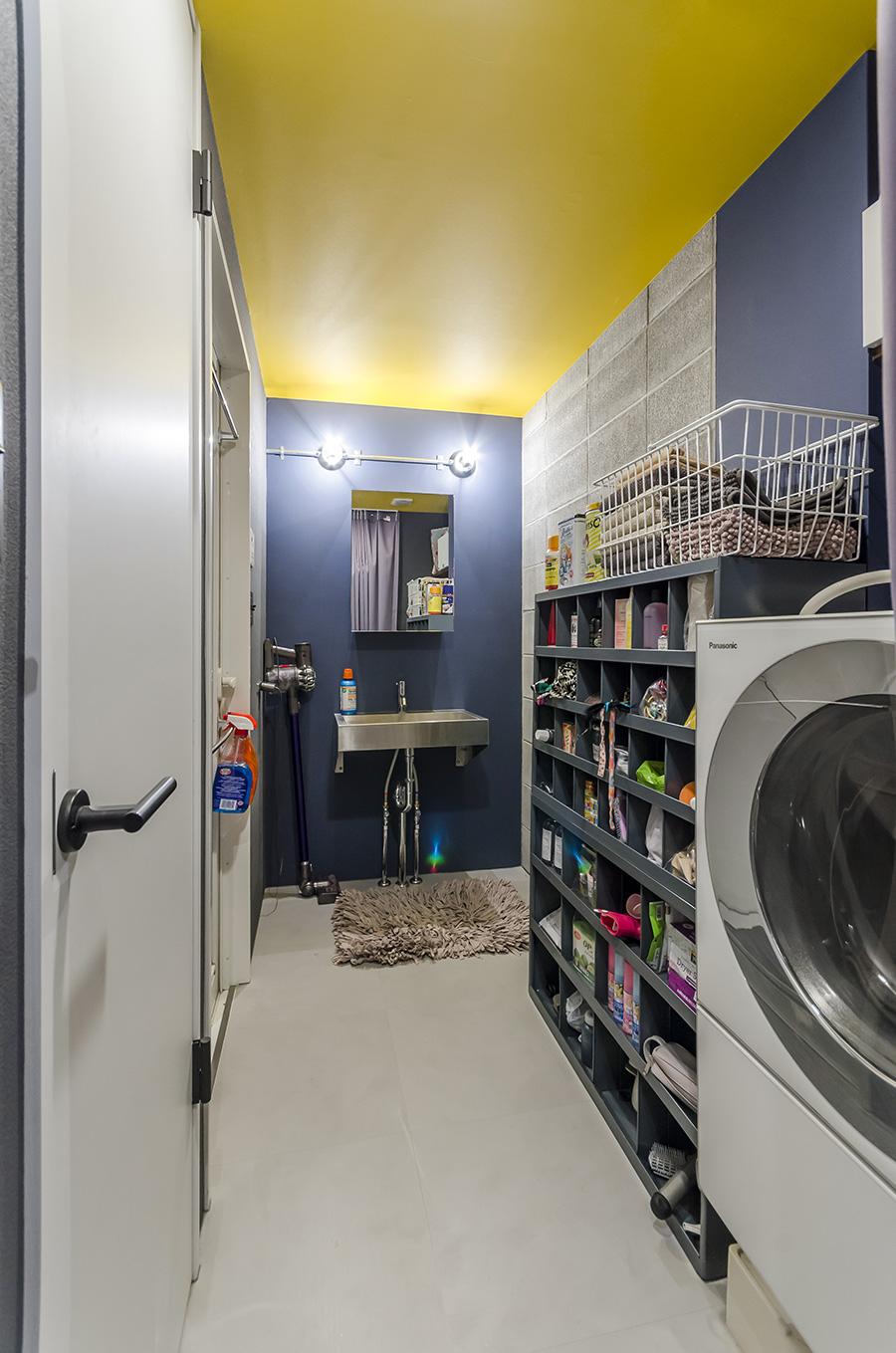 洗濯機、風呂、トイレなどの水回りは、一箇所に集中させた。
