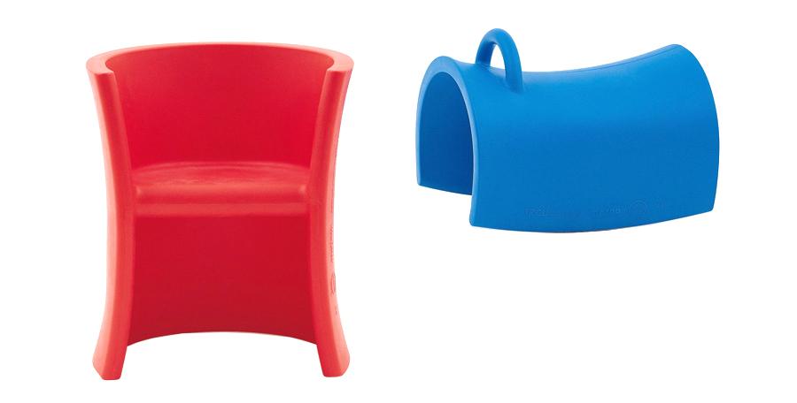 トリオリ(レッド・ブルー) W495 D450 H580 SH370 SH270mm 各¥35,000