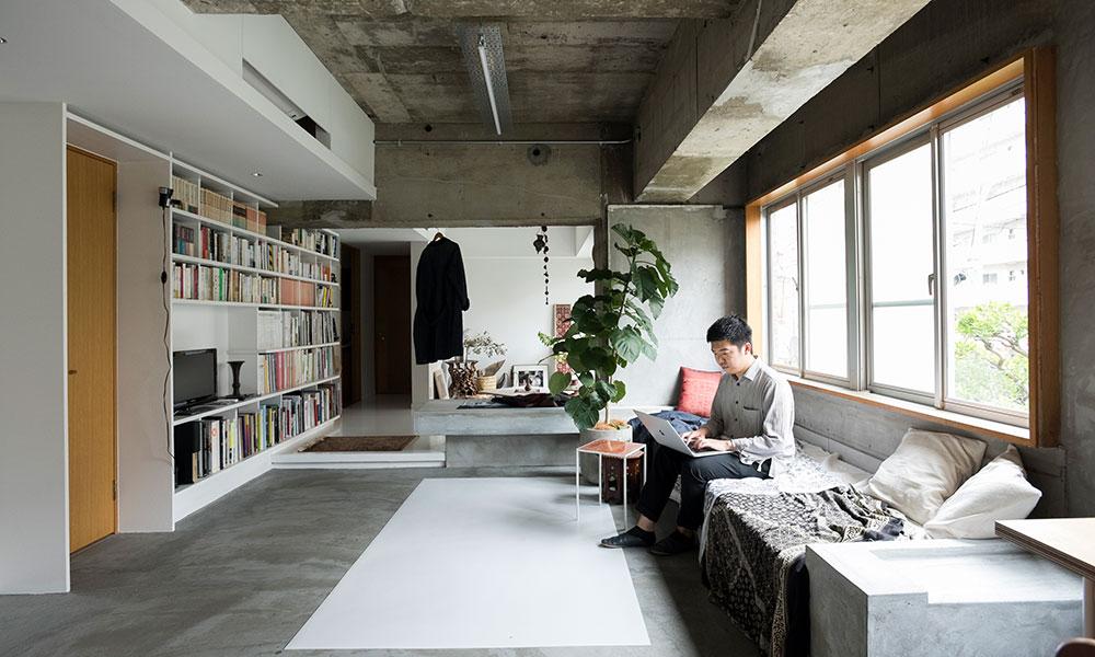 若手建築家のリノベーション  スケルトンに変化をつけて 光が生む陰影を楽しむ