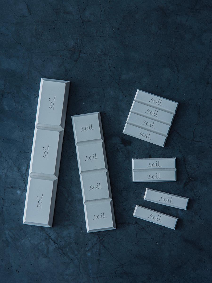 左からドライングブロック ラージ (3pcs.) ¥1,200 ドライングブロック (4pcs.)  ¥1,000 ドライングブロック ミニ (8pcs.)  ¥1,100