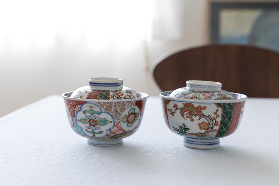 鎌倉で買ったアンティークの蓋付椀。「蓋だけで使っても面白いんですよ」とまきさん。