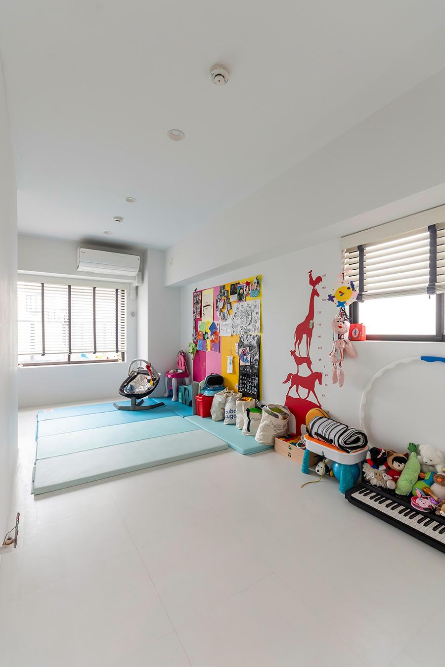 子供の成長を考え、子供部屋は広めに。