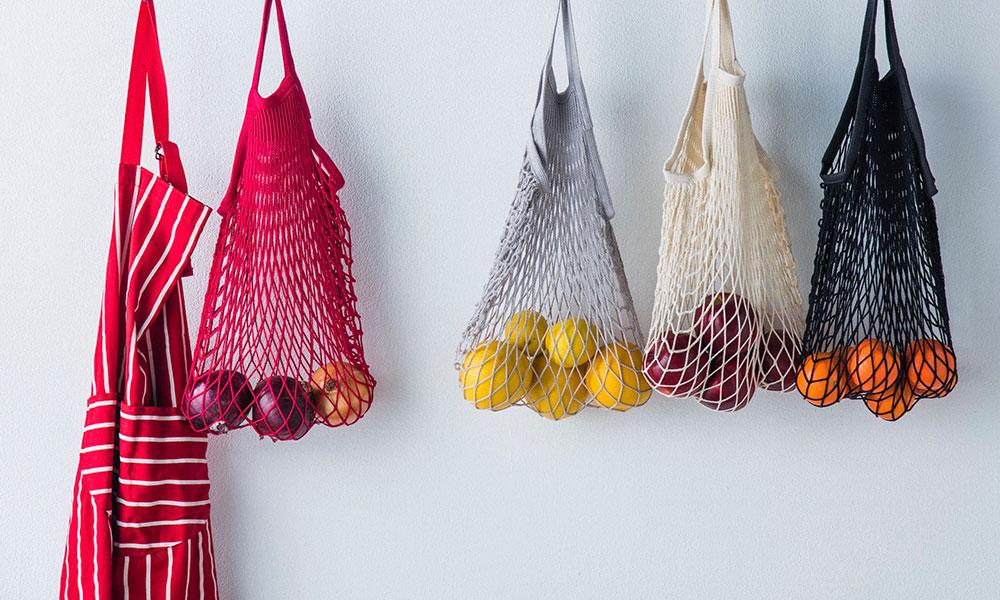 FILTのネットバッグ インテリアとファッションに お洒落に使えるフィルトバッグ