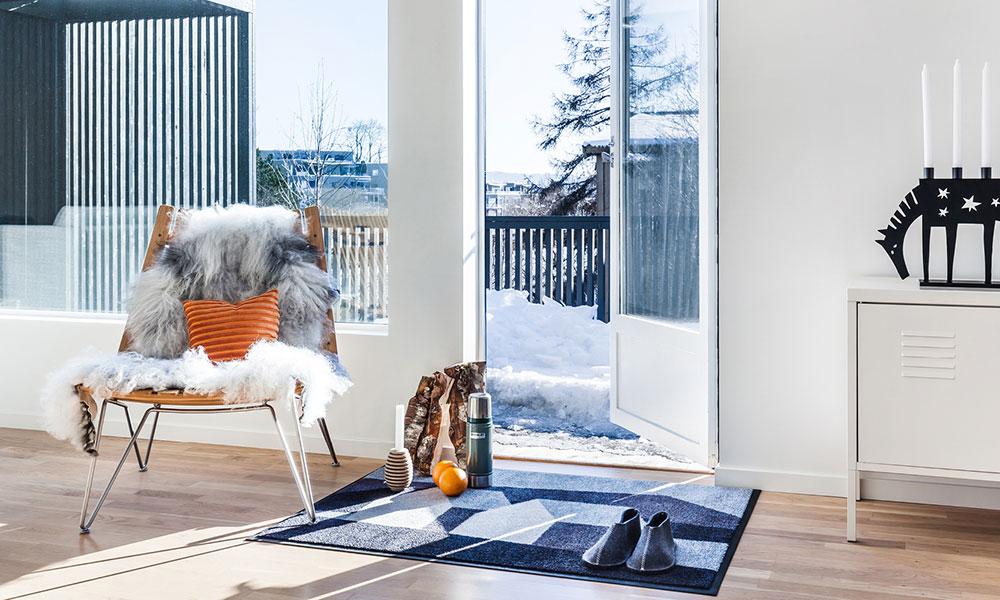 北欧デザイン×機能的マット 家では靴を脱ぐノルウェーで 誕生したマットを生かす