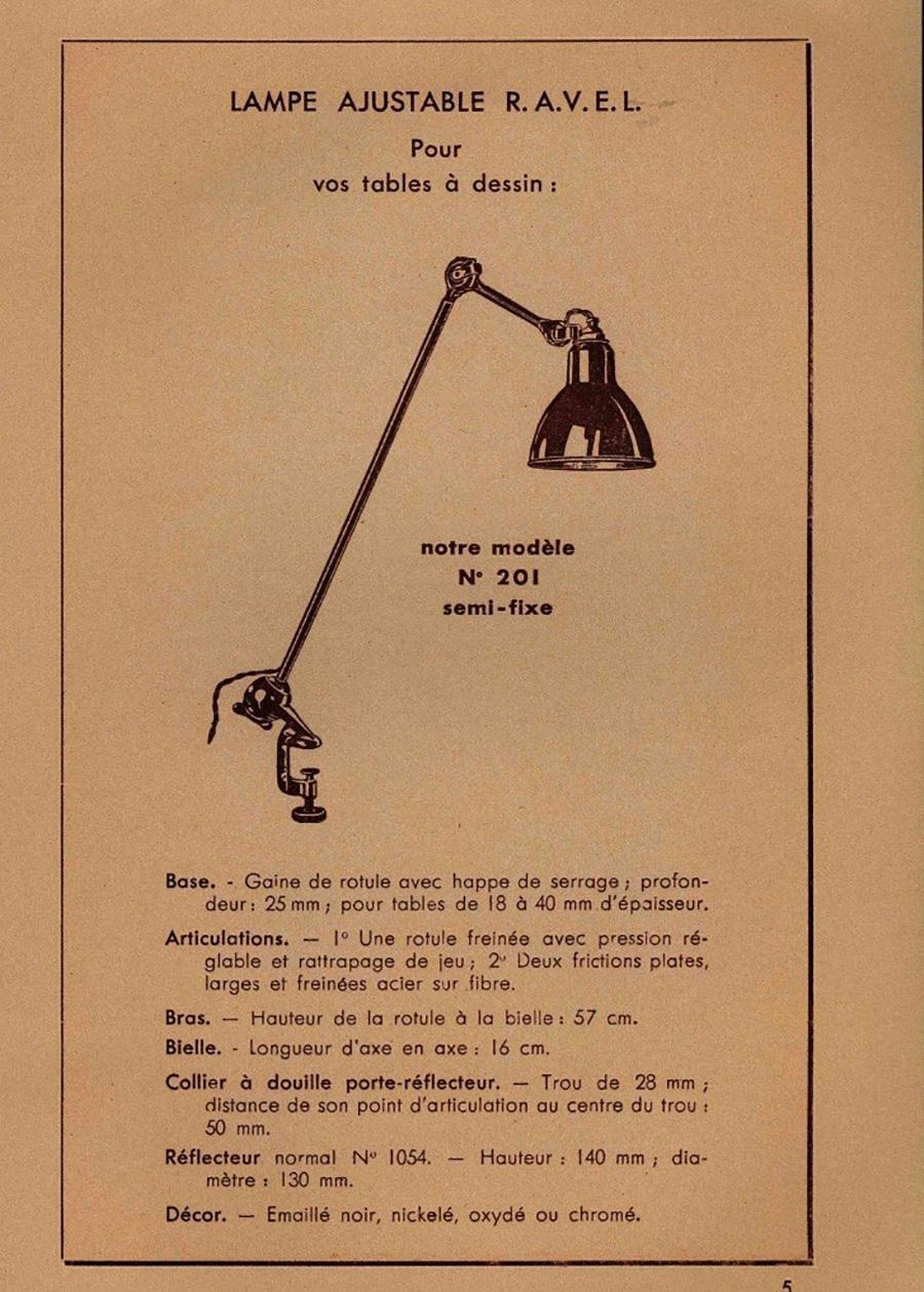 「LAMPE GRAS NO.201」の当時のポスター。