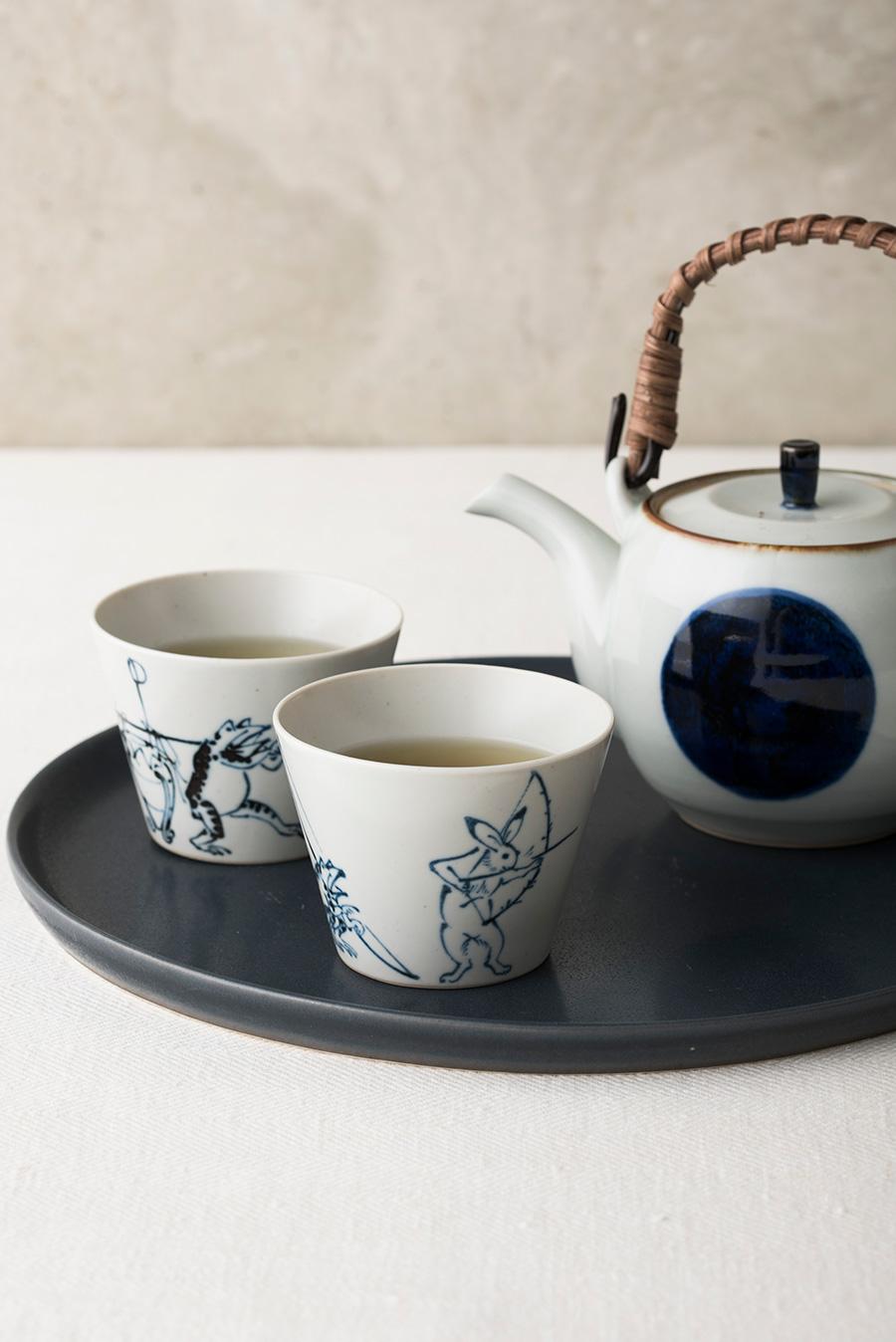 湯のみ茶碗にもちょうどいいサイズ。いろは 土瓶  ¥3,800