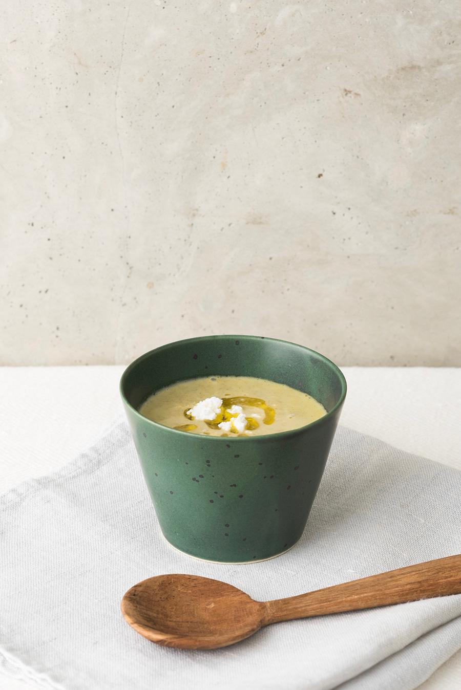 そばちょこ 色釉/渋結晶 青銅 φ83 H62mm 170cc  ¥1,500 朝食にぴったりな小ぶりなスープカップとして。