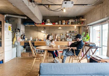 5人家族の65㎡リノベーション壁付キッチンと余白で空間効率UP