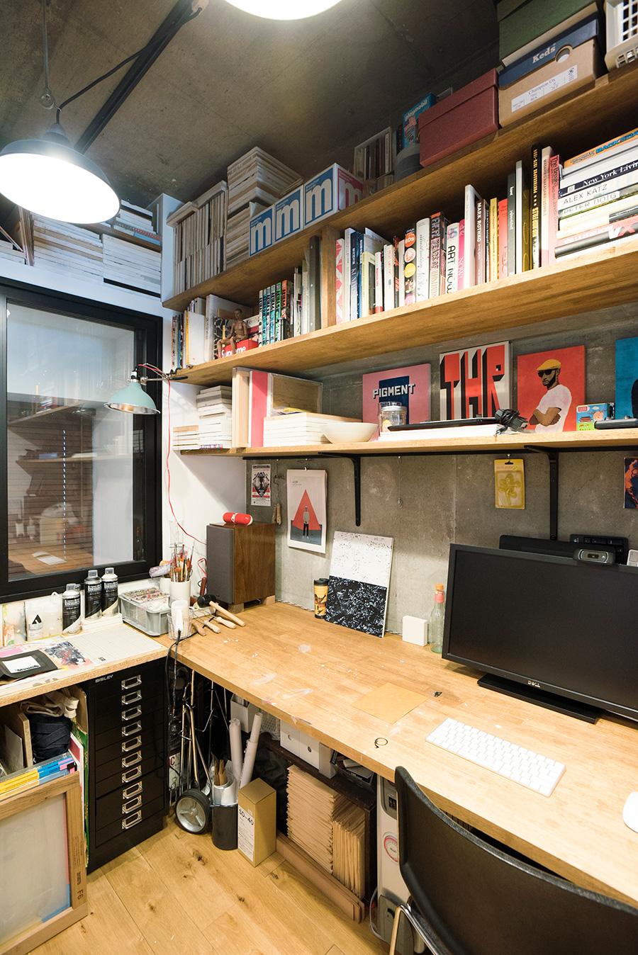 造作の棚も3Dでサイズを指定。無駄なく収まっていてストレスがない。
