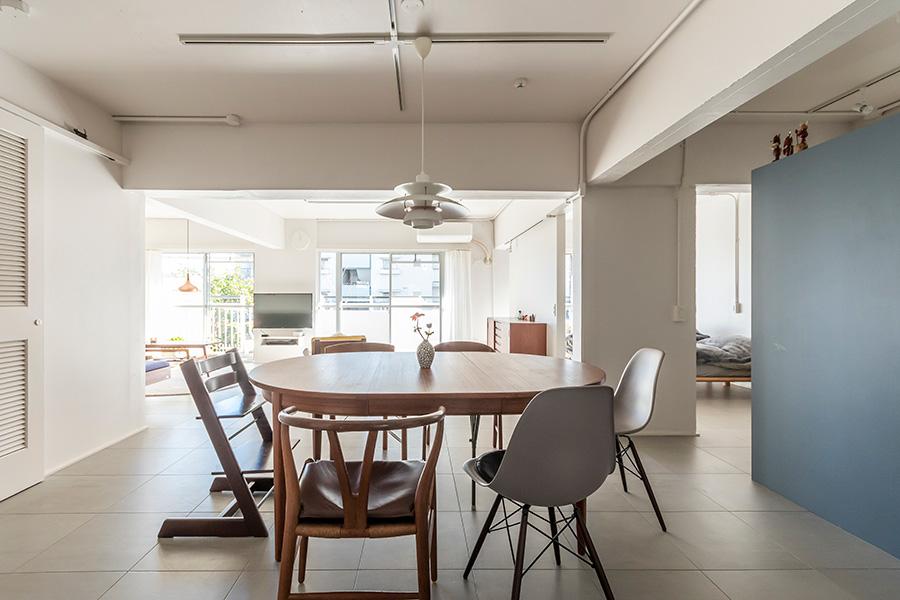 北欧家具店「tanuki」で購入したエクステンションテーブル。