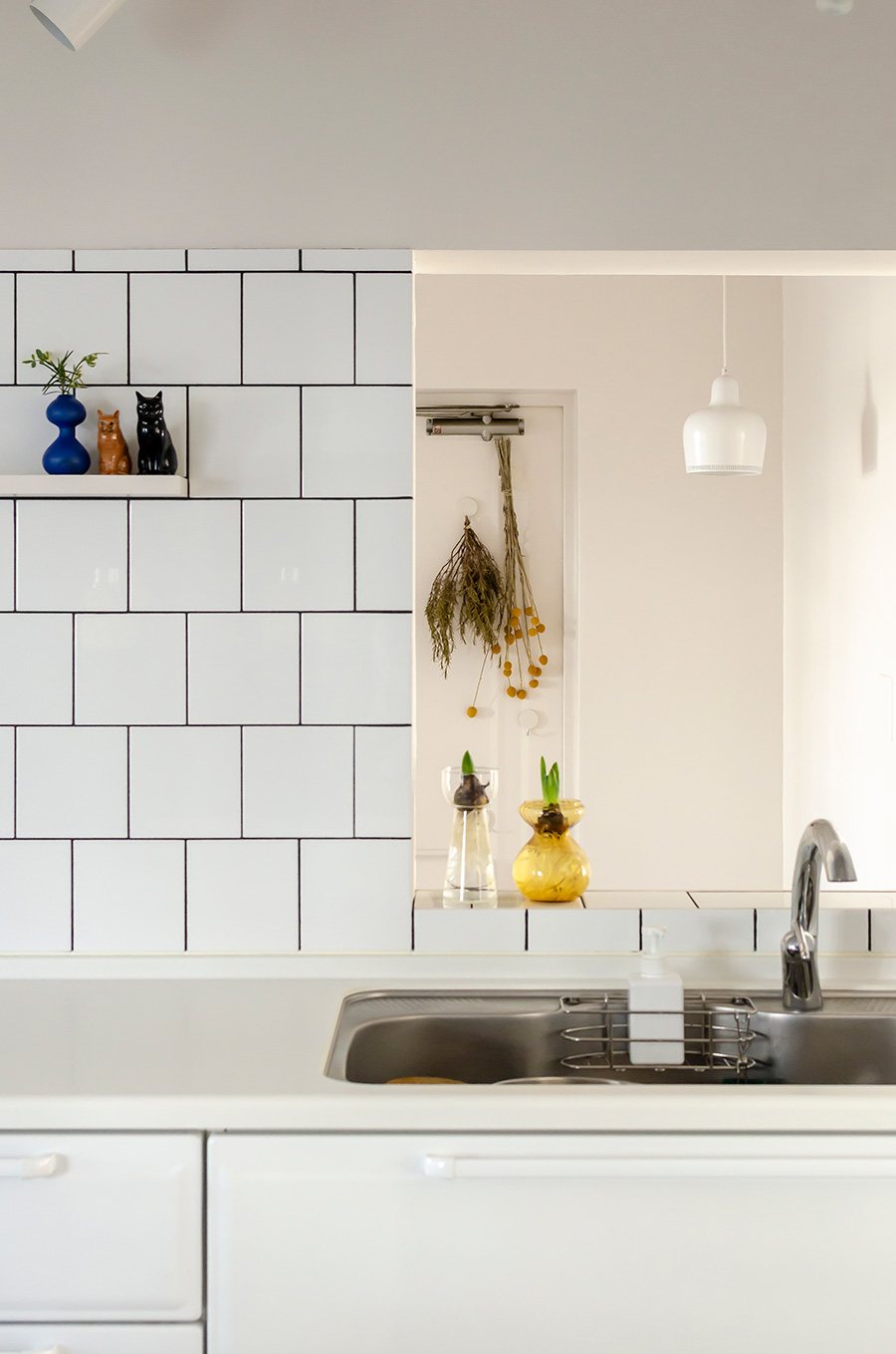 キッチン水栓はドイツの「GROHE」社製。