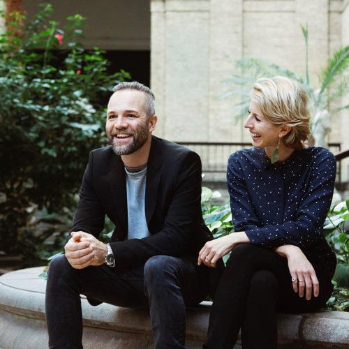デザイナー&クリエイティブディレクターのトーマス・リッケ、CEOのアンマリー・ブエマン