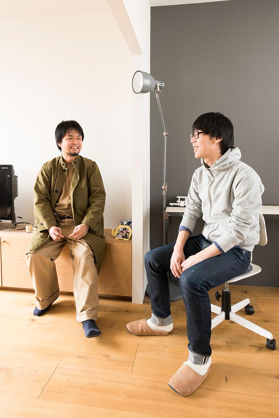 studio PEACE sign、HandiHouse projectを運営する加藤渓一さんと、辻孝祐さん。施工の過程をともに過ごした。