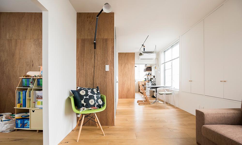 施工業者とともに家づくり  建物の意匠を活かした シンプルなアパルトマン