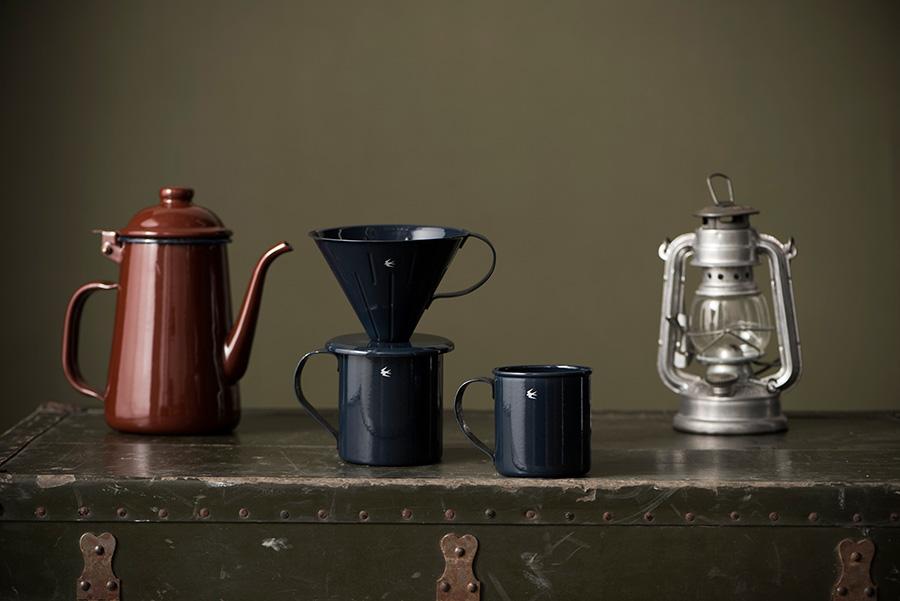 GSP コーヒーポット ( 1L )  ¥6,800 ドリッパー 4.0  ¥4,200 マグ L  ¥2,000 マグ M  ¥1,800