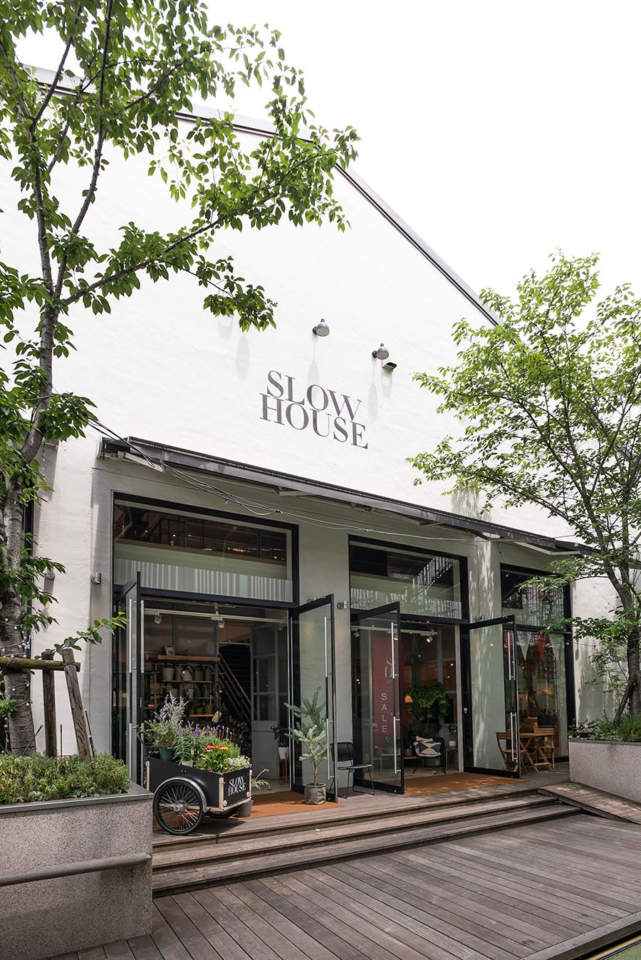 今回、ワークショップが行われたスローハウス天王洲。家具や雑貨はもちろん、各地から話題のグリーンや希少なグリーンを取り揃えて販売。各種ワークショップも定期的に開催している。